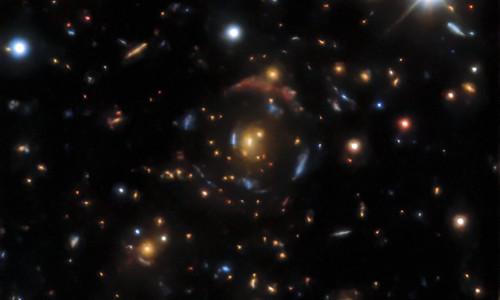 A gravitational lens found in the DESI Legacy Surveys data.